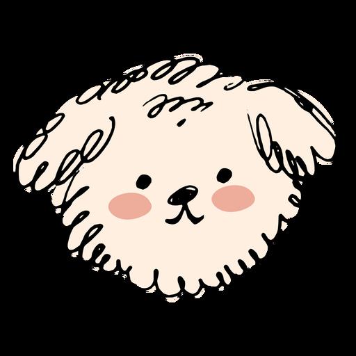 Perro caniche dibujado a mano