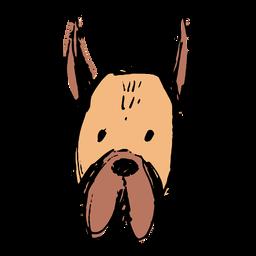 Cara de perro simple dibujada a mano