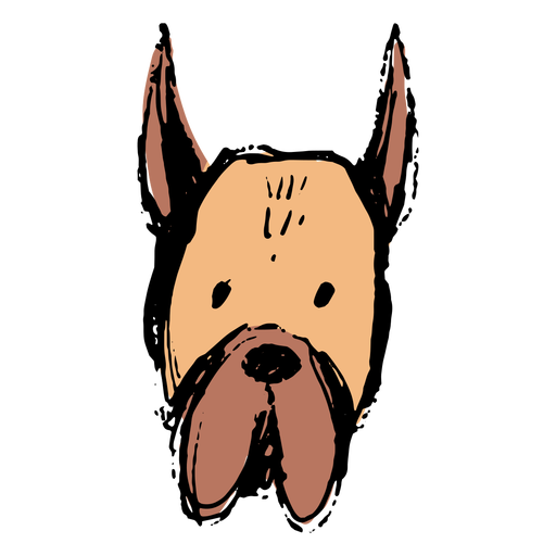 Hand drawn simple dog face