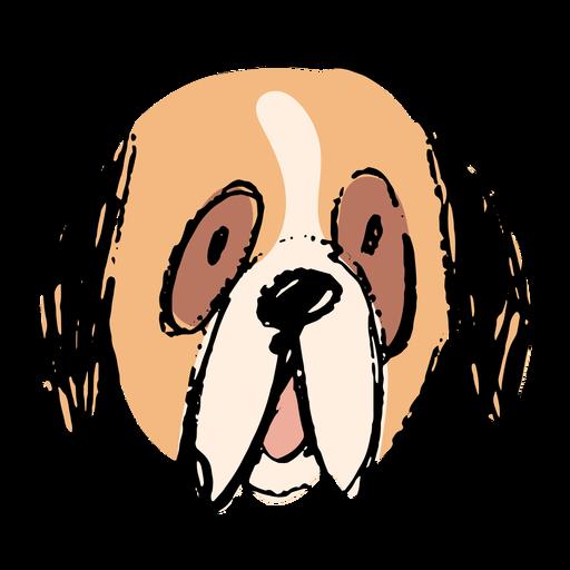 Bernese dog hand drawn