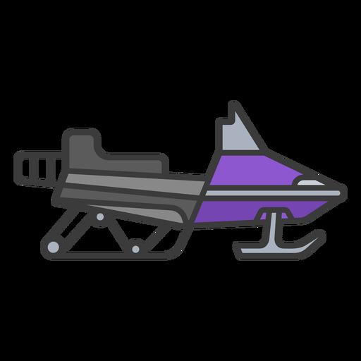 Purple flat stroke snowmobile