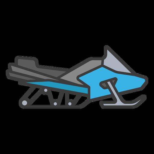 Flat stroke snowmobile