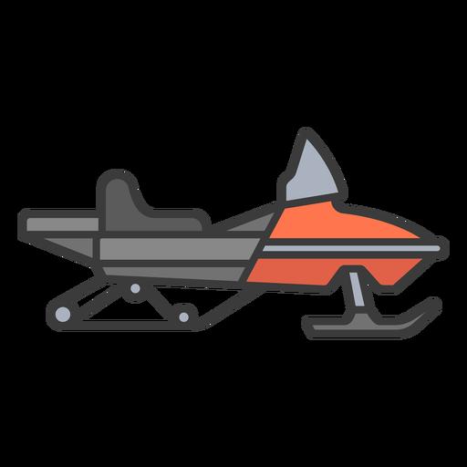 Red flat stroke snowmobile