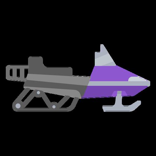 Semi flat snowmobile