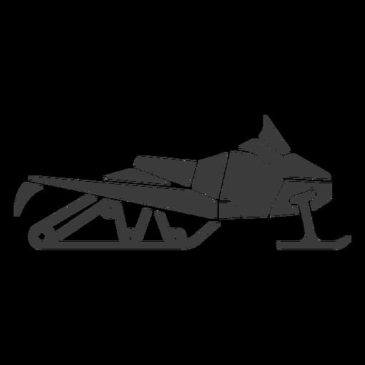 motos de nieve - silueta - 4