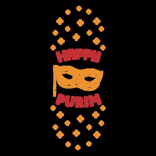 Happy purim holiday badge