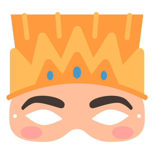Mardi gras flat mask