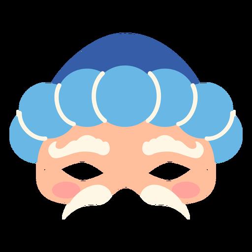 Face shaped mardi gras mask