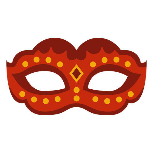 Red and yellow carnival mask