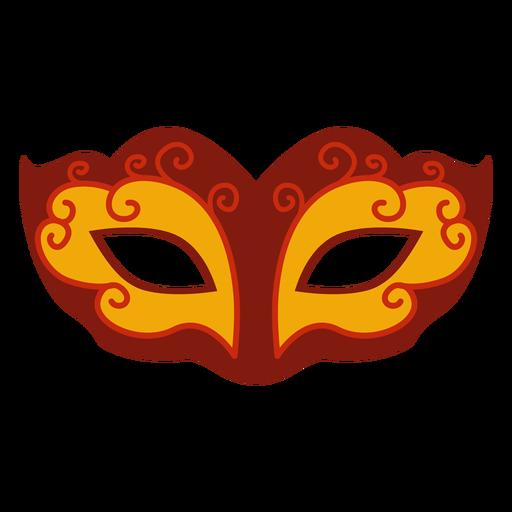 Flat mardi gras swirly mask