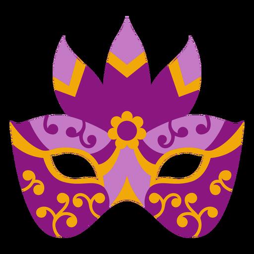 Mardi gras colorful flat mask