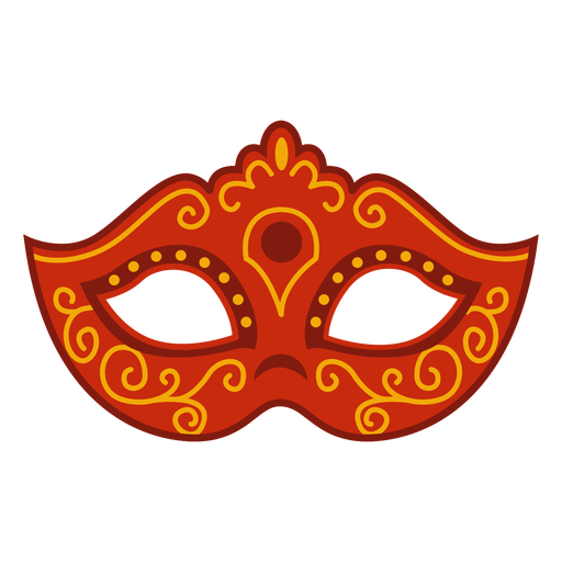 Red carnival mask accesory