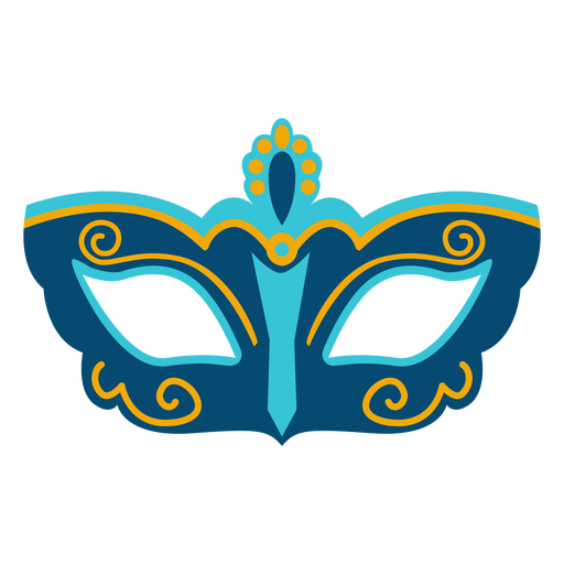 Mardi gras swirly flat mask