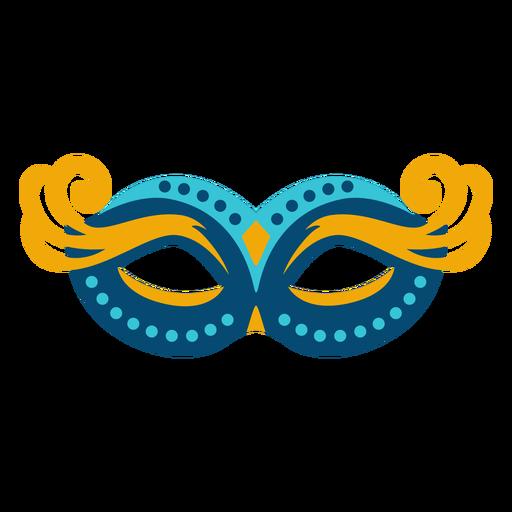 Colorful eyelashes mardi gras mask