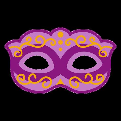 Mardi gras semi flat mask