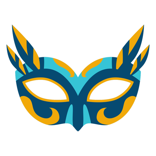 Colorful flat mardi gras mask