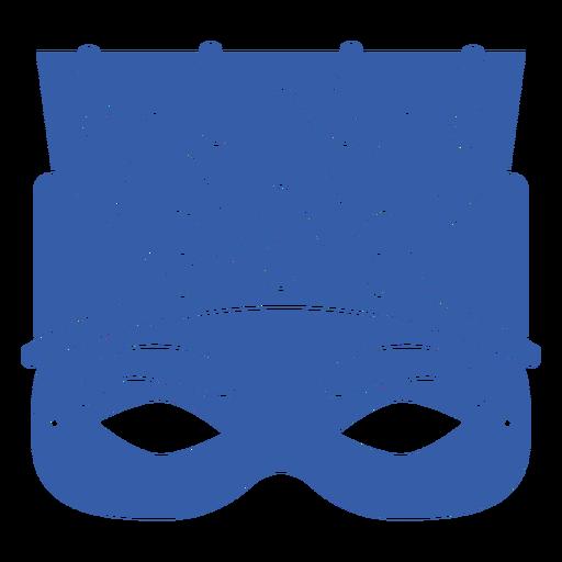 Blue flat mardi gras mask