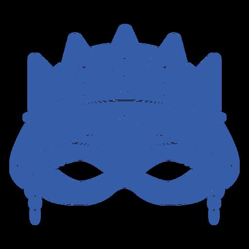 Blue womans face mardi gras flat mask