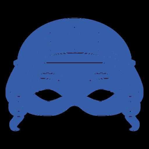 Blue womans face mardi gras mask
