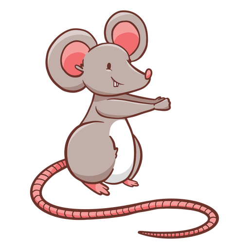 Cute cartoon standing mouse