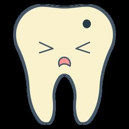 Tooth cavity cartoon