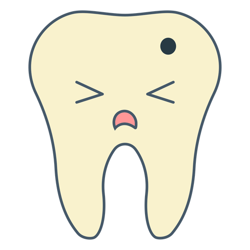 Tooth cavity cartoon Transparent PNG