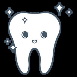 Carácter brillante diente feliz