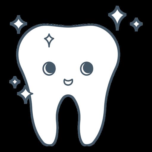 Happy tooth shiny character
