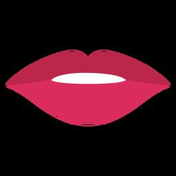 Lápiz labial rojo boca plano