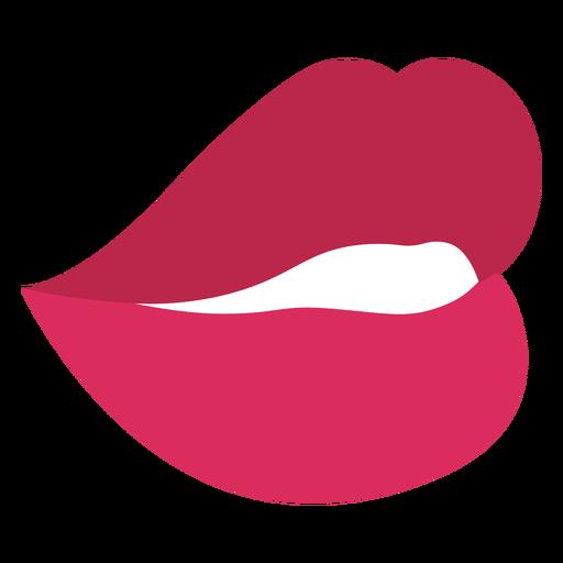 Sensual red lips