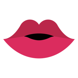Boca labios rojos planos