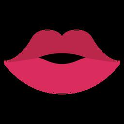 Boca lábios vermelhos achatados
