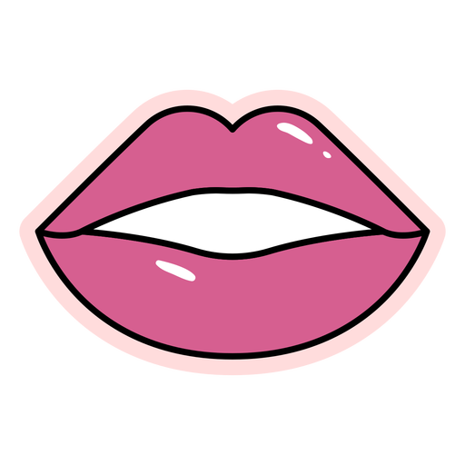 Color stroke glossy lips element