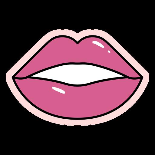 Elemento de labios brillantes de trazo de color