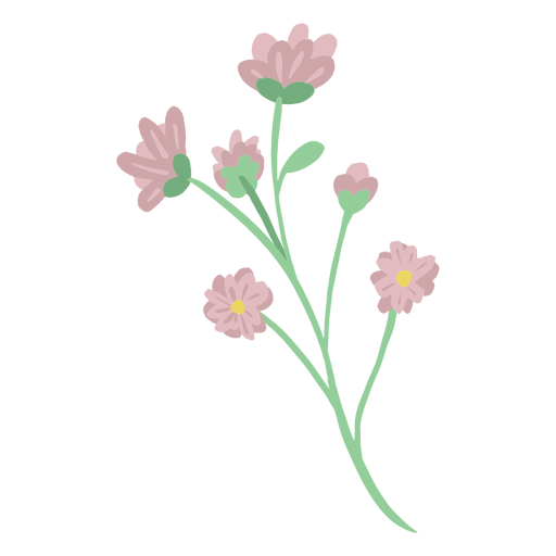 Simple hand drawn pink flowers