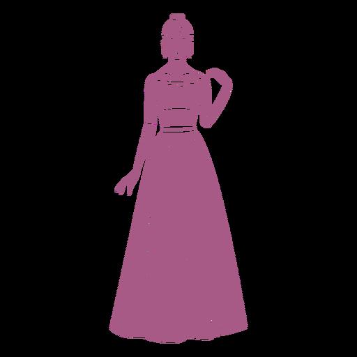 Lady in long dress cut out