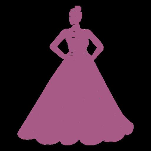 Girl in long dress cut out