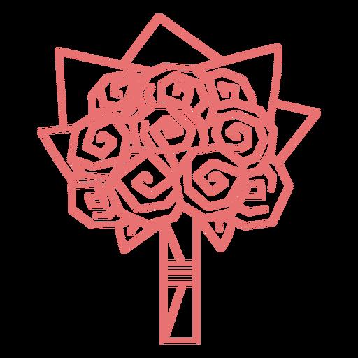Roses floral arrangement stroke
