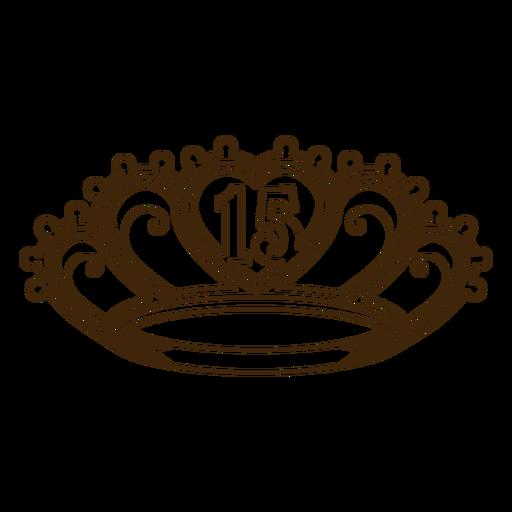 15th birthday crown stroke