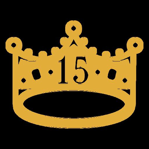 15th birthday filled stroke crown