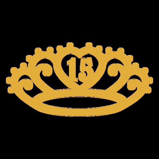 15th birthday yellow stroke crown