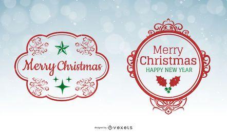 Marcos de vectores de navidad