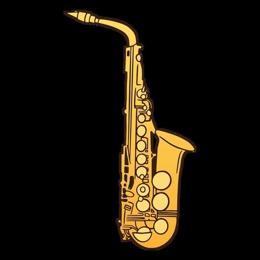 Semi flat colored saxophone