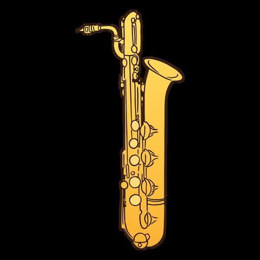 Semi flat baritone saxophone