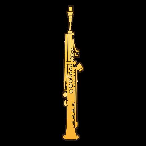Semi flat soprano saxophone