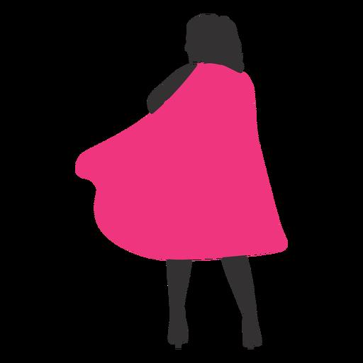 Superhero girl back silhouette