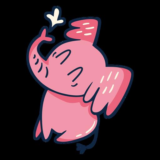 Cute cartoon pink elephant
