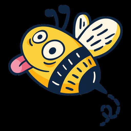 Flying cute honey bee cartoon
