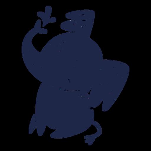 Simple cartoon cut out elephant sittin