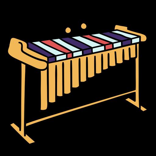 Color stroke simple xylophone vibraphone